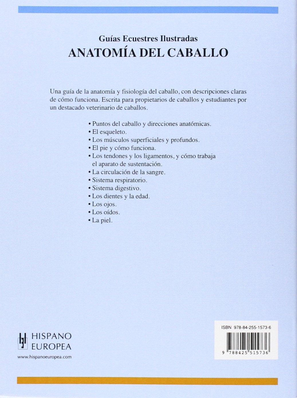 Anatomía del caballo (Guías ecuestres ilustradas): Amazon.es: Chris ...