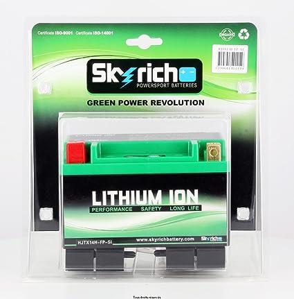Electhium - Batería Moto LiFePO4 YTX14-BS UN38.3 12V 4Ah