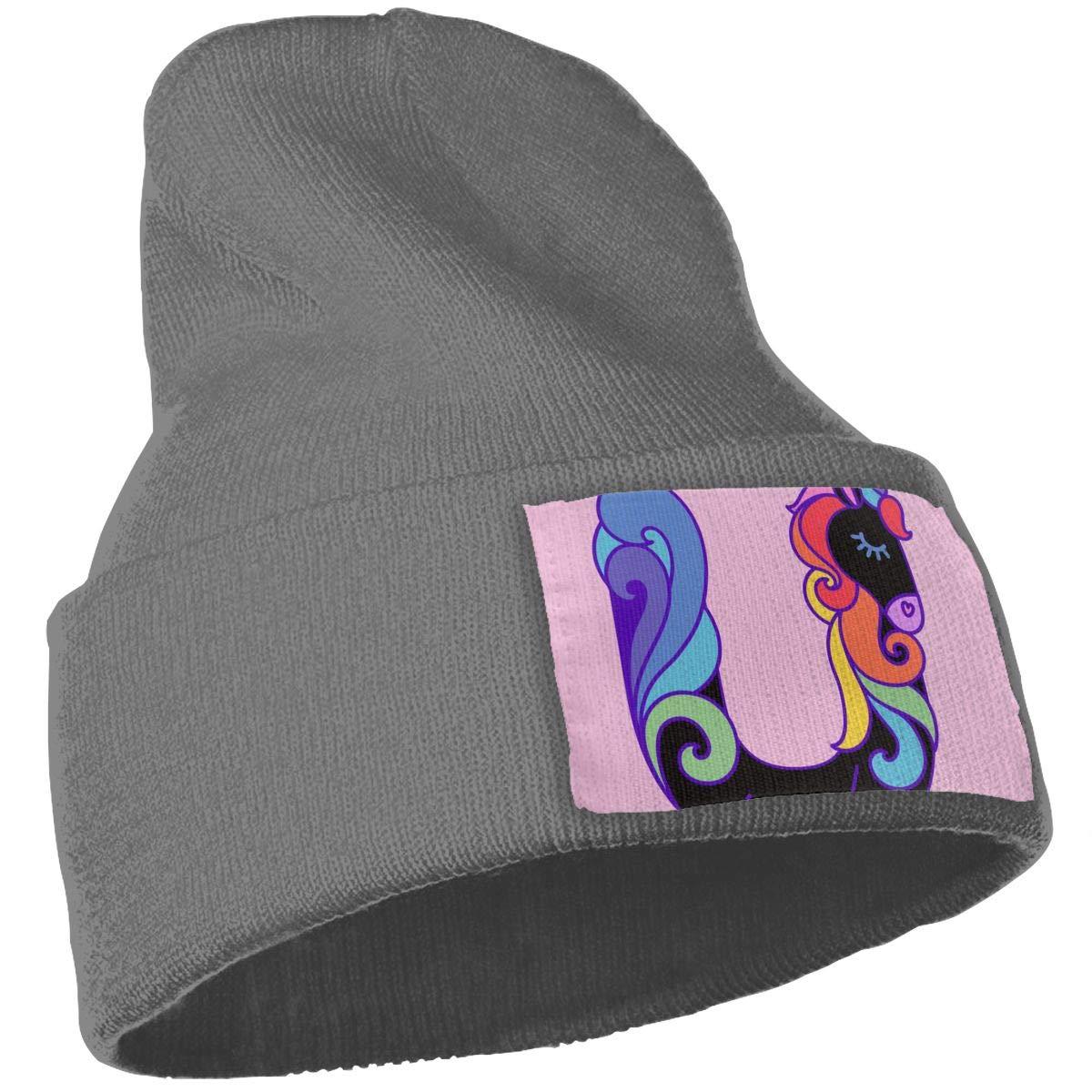 Letter U Unicorn Unisex Fashion Knitted Hat Luxury Hip-Hop Cap