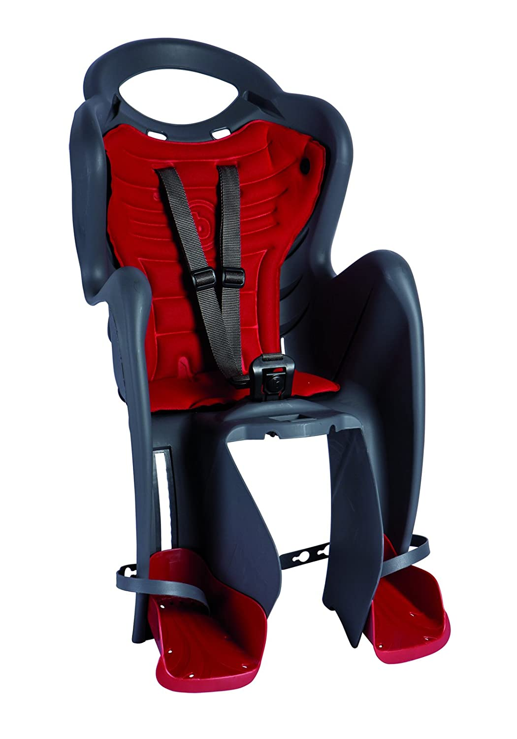 Italian Made with Certified Safety Standards Black BELLELLI Mr Fox Standard Rear Bike Child Seat