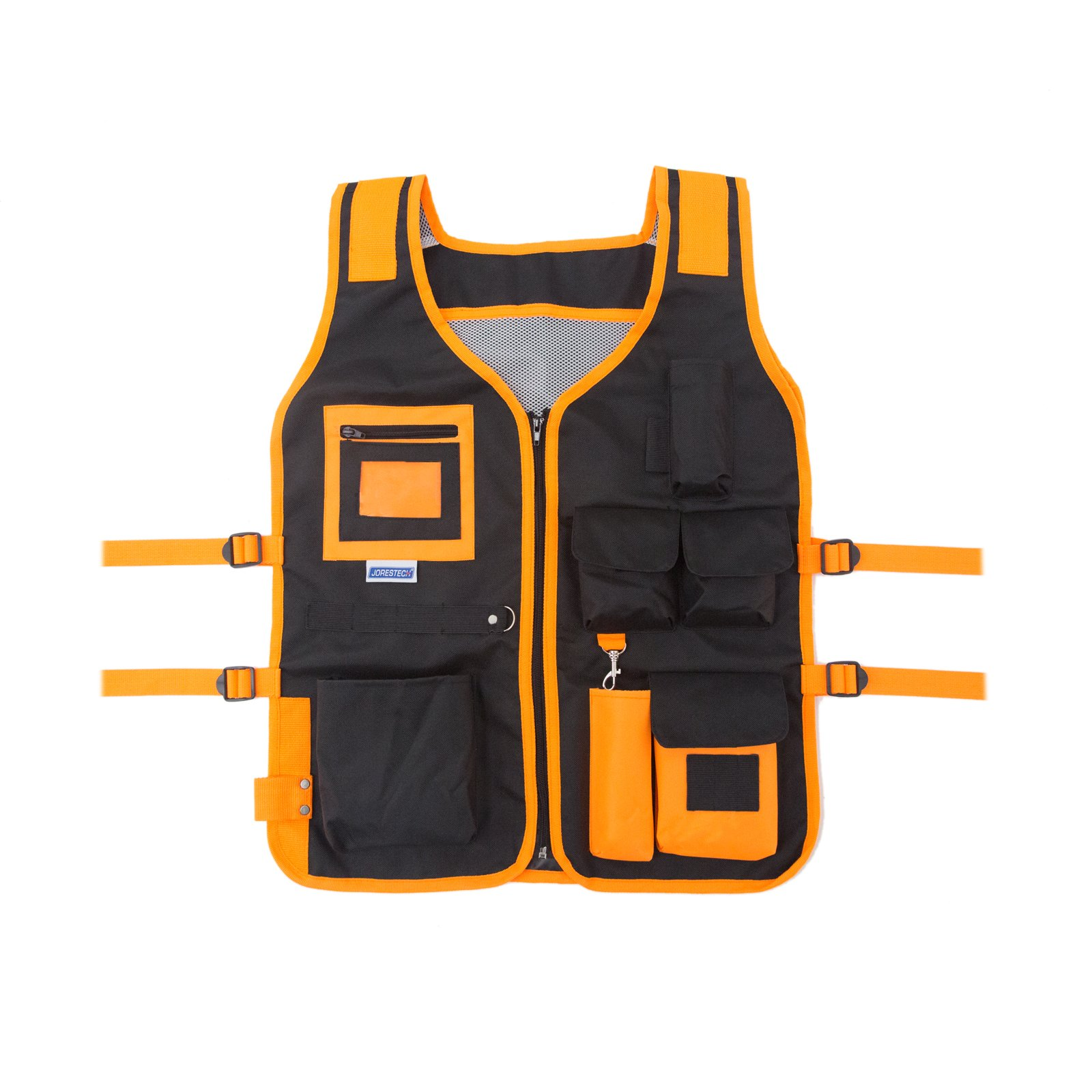 JORESTECH High Visibility Tool Vest with reflective strips (Orange)