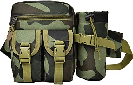Military Tactical Drop Bag Fanny Pack Utility Waist Pouch Storage Camping