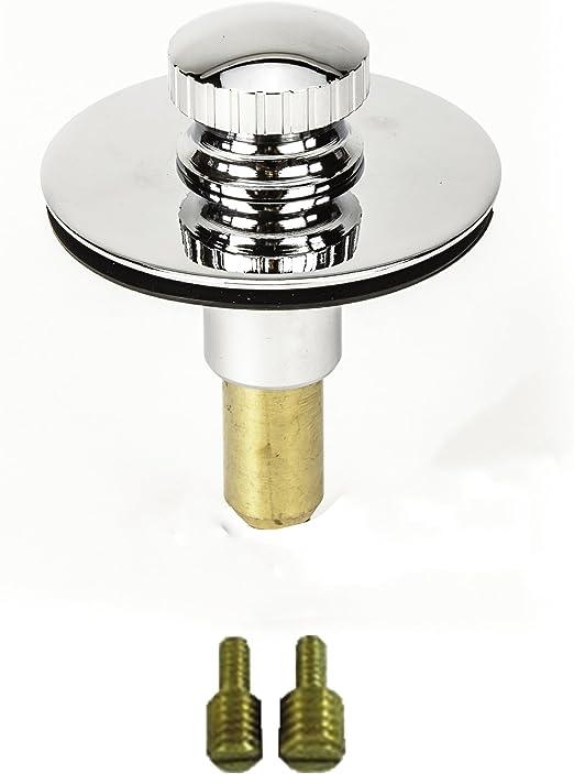 No Hair Catcher Chrome Lift and turn Bath Tub//Bathtub Drain Stopper includes 3//8 and 5//16 Fittings PF WaterWorks PF0950-CH Universal n, Twist Close