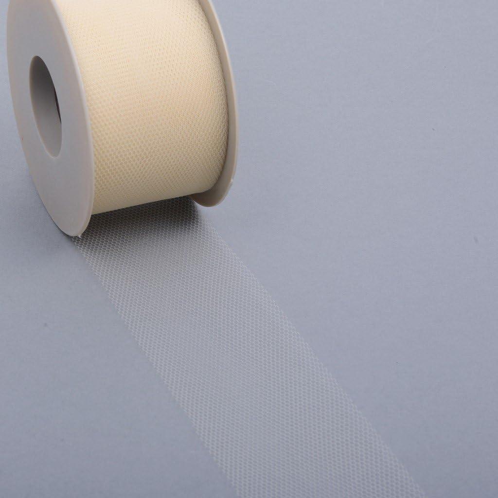 Hochzeit T/üllband 50 mm Breite 679 50 82 Dekostoff Feier T/üllstoff 50 m Rolle orange Schleifenband
