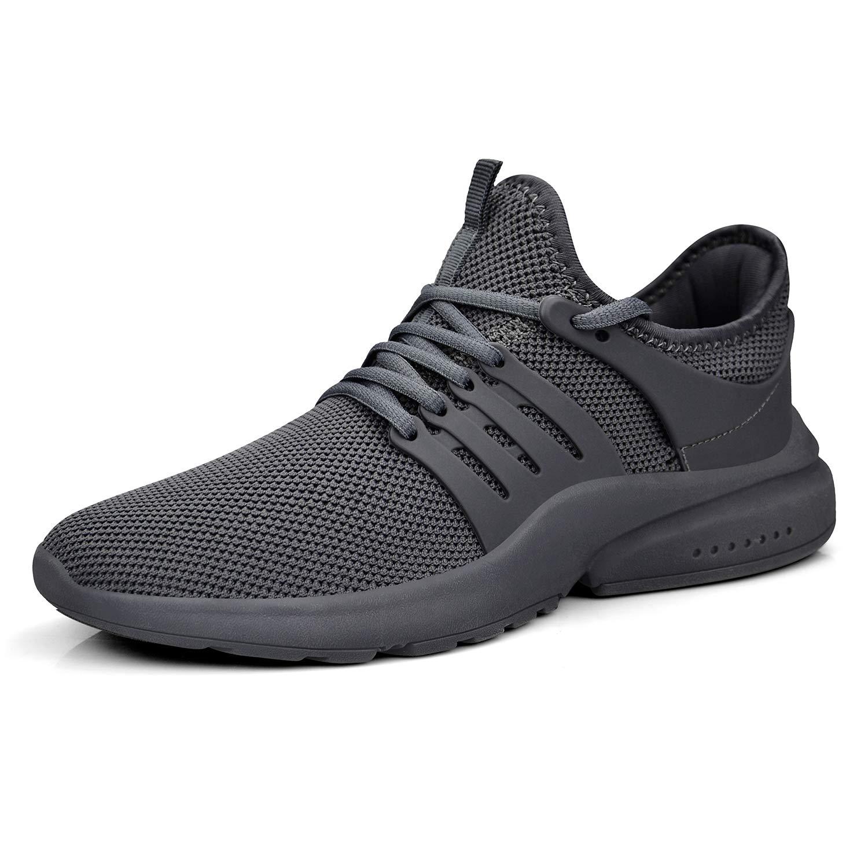 QANSI Womens Running Shoes Sports Comfortable Walking Mesh Gym Tennis Sneakers Gray/Gray Size 8