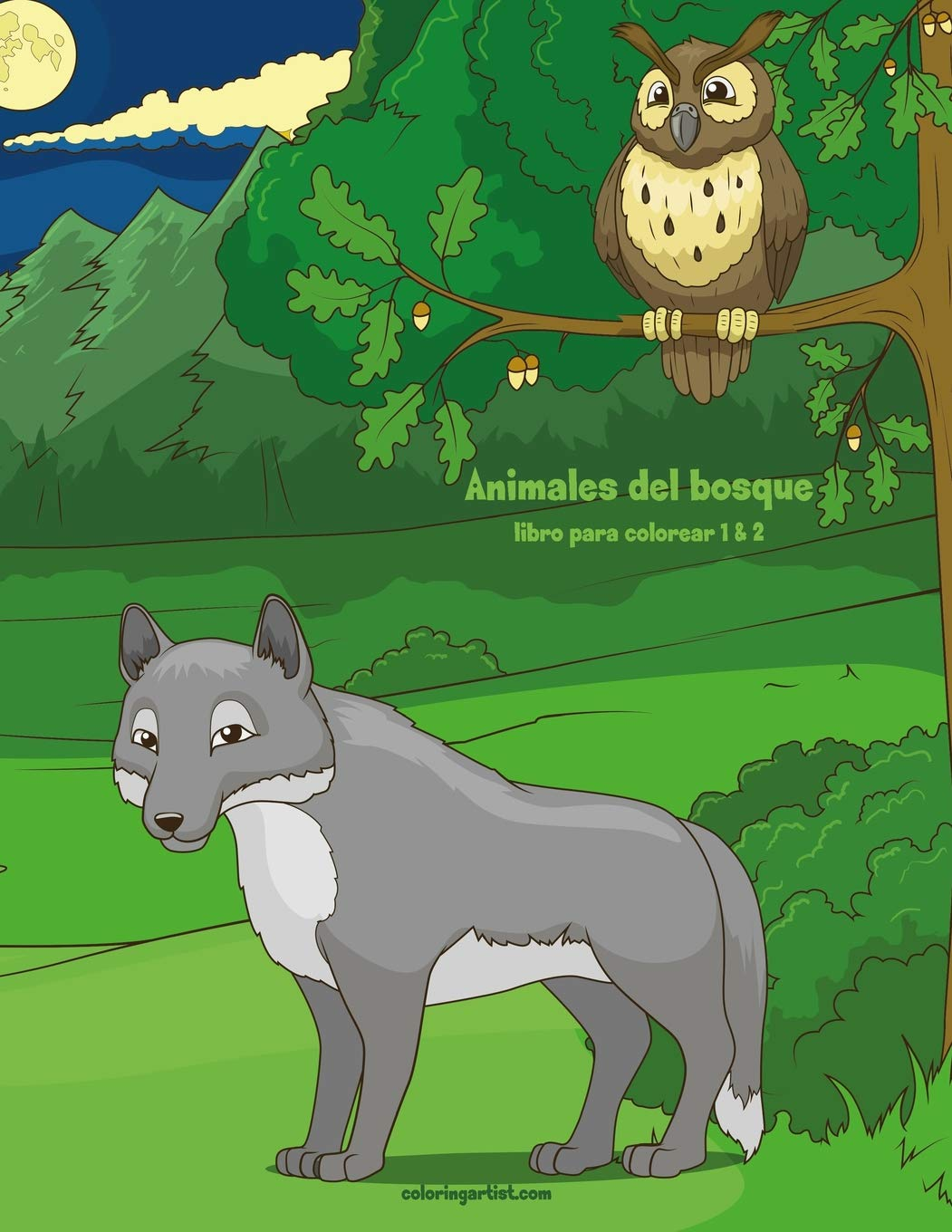 Animales Del Bosque Libro Para Colorear 1 2 Spanish Edition