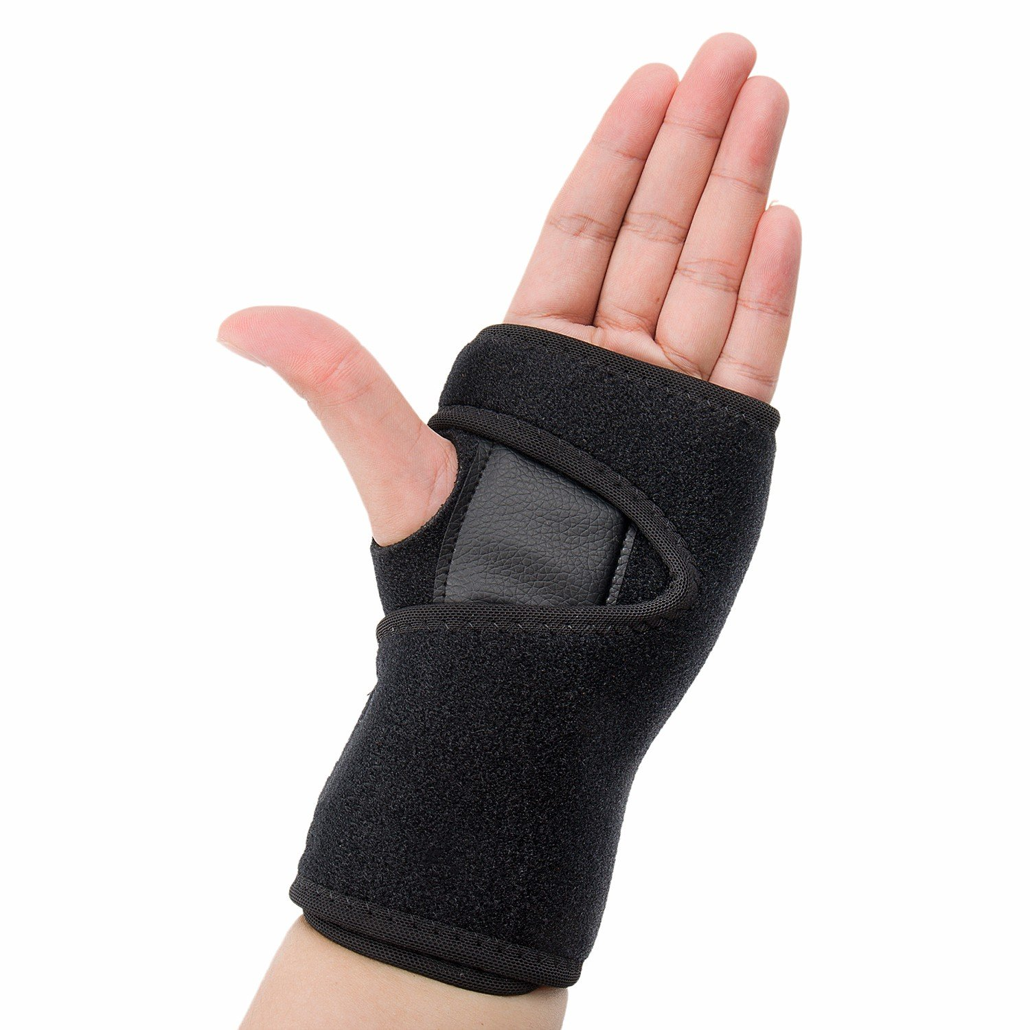 CFR Wrist Support Braces Palm Brace Hand Wraps Double Removable Steel Splints for Carpal Tunnel, Tendonitis, Wrist Pain & Sports Injuries - One Pair UPS Post