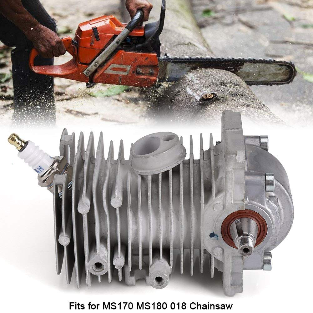 Yuehuam Chainsaw Cylinder Kit, 38mm Engine Cylinder Piston Crankshaft Assembly for MS170 MS180 018 Chainsaw