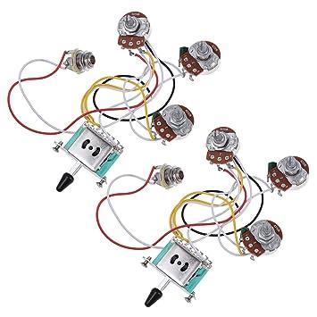 Guitarra eléctrica Kit de cableado arnés precableado 5 way ...