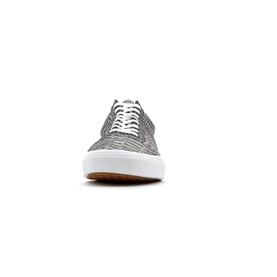 74d11874273b48 Vans Unisex UA Old Skool Rose Gold True White Metallic Snake 11.5 Women   10  Men M US  Amazon.co.uk  Shoes   Bags