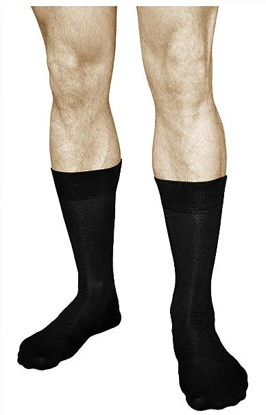 vitsocks Calcetines BAMBÚ Hombre (3 PARES) Finos Suaves Transpirables Lisos Casuales: Amazon.es: Ropa y accesorios