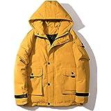 BOJIN ダウンジャケット メンズ おしゃれ ダウン ヒップホップ コート 厚手 アウター ボタンデザイン ダウンコート フード付き ジップパーカー 中綿ジャケット