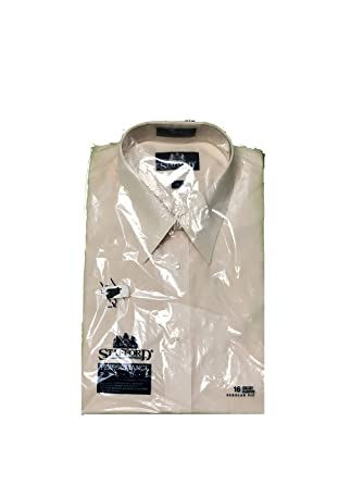 4da040ec Stafford Performance Plus Men's Short Sleeve Button Front Shirt 16 ...