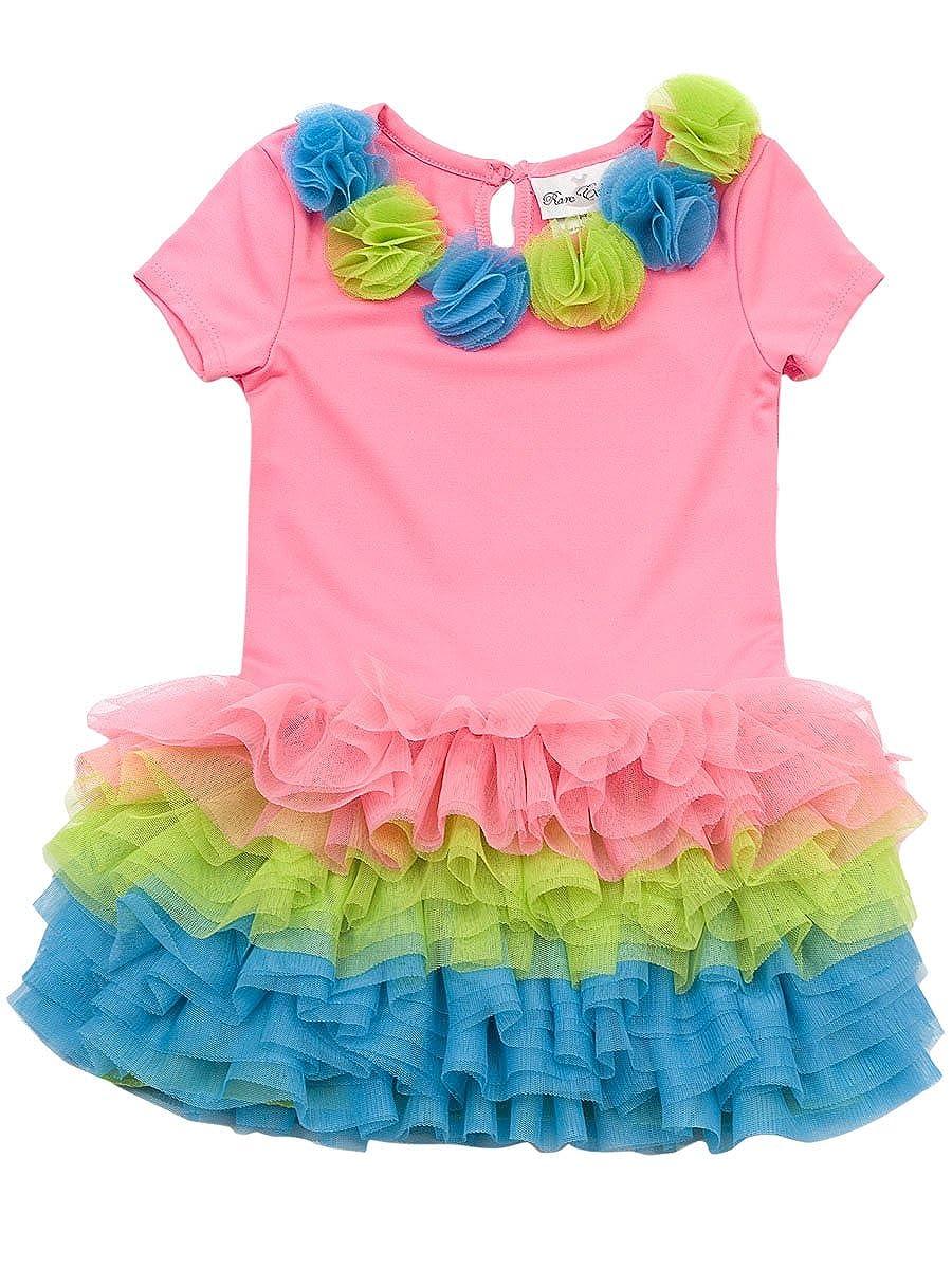 Rare Editions Baby Girls Neon Tutu Dress
