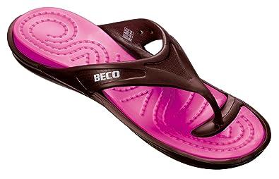 Beco V Women V-Strap-Slipper, Schwarz, 40