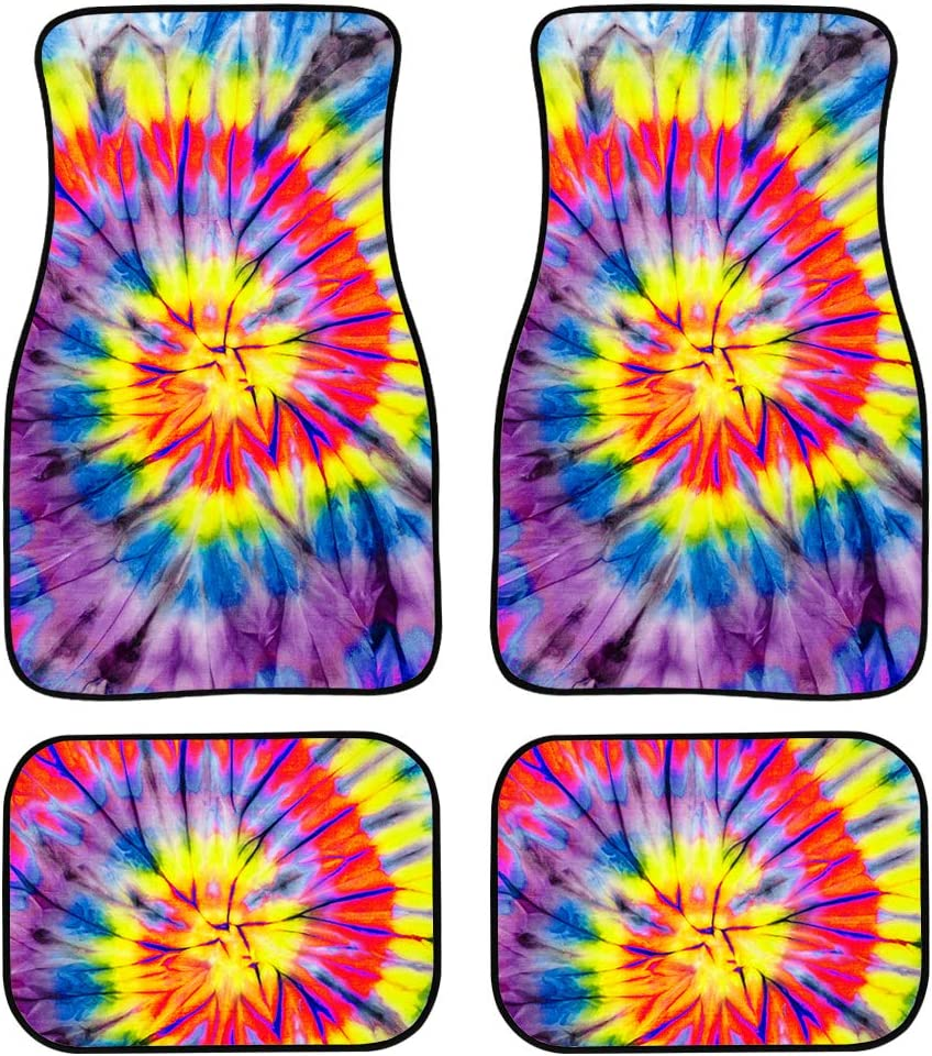 Showudesigns Butterfly Print Car Interior Rug Carpet Floor Mats for Cars Coupes Driver Seat Passenger Seat and Rear Floor Mats for Car Heavy Duty Set of 4 Small SUV