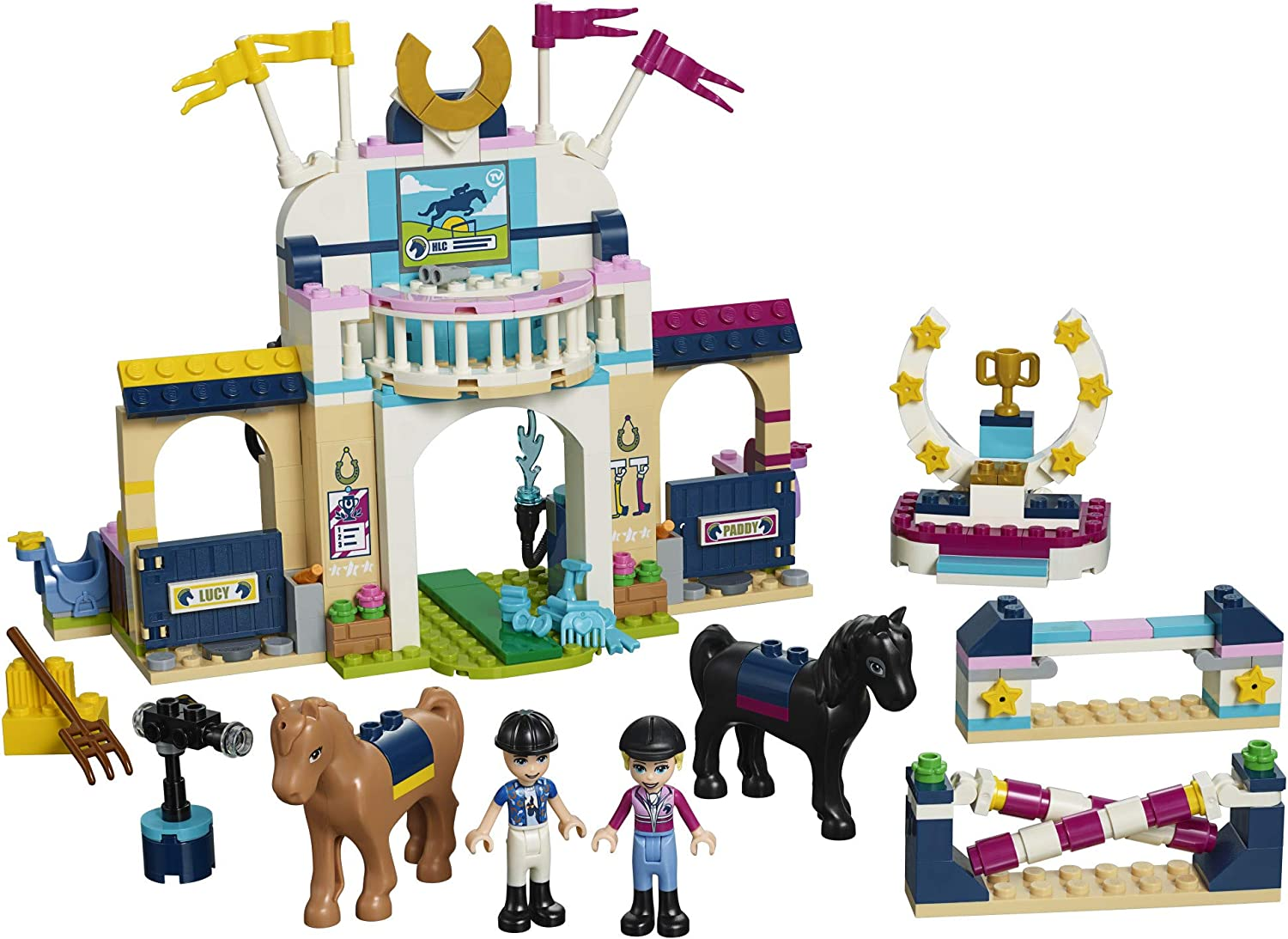 LEGO Friends Stephanie/'s Horse Jumping 41367 Building Kit 337 Pieces