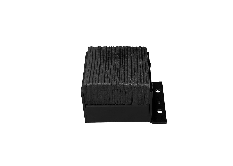 Laminated Rectangular Rubber Dock Bumper Flat Plate One Side 12 Length Horizontal Mount 18 Width 9 Depth 2 Holes