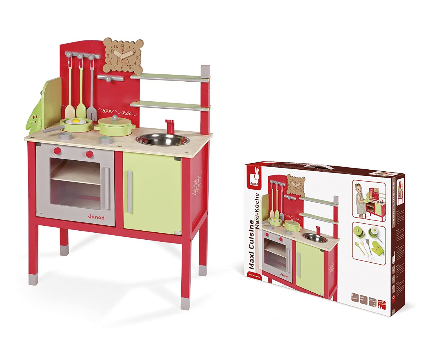 Mademoiselle Janod J06533 Wooden Maxi Cooker Pink