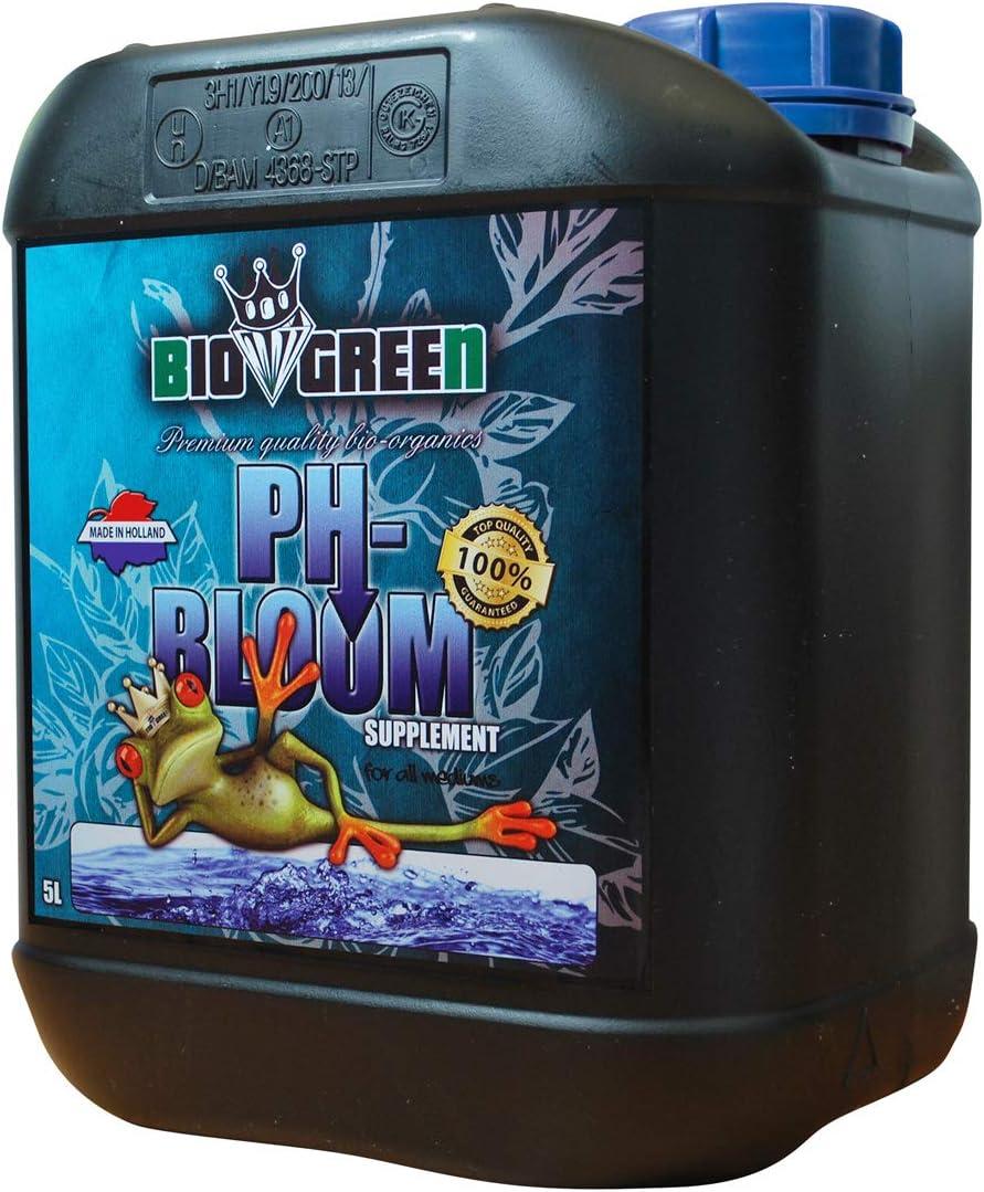 Fertilizante PH-BLOOM Especial para Cultivos de Cannabis y Marihuana. Mejora su Crecimiento y Floración. No Sulfurada. Producto CE. 5 LITROS