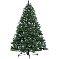 1.8M Christmas Tree 6FT Xmas Faux Snowy Green Tree Thick Foliage Jingle Jollys Holiday Decoration Indoor Décor Home…