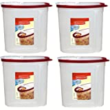 Rubbermaid Cereal Keeper 1.5 Gallon Container (Pack of 4)
