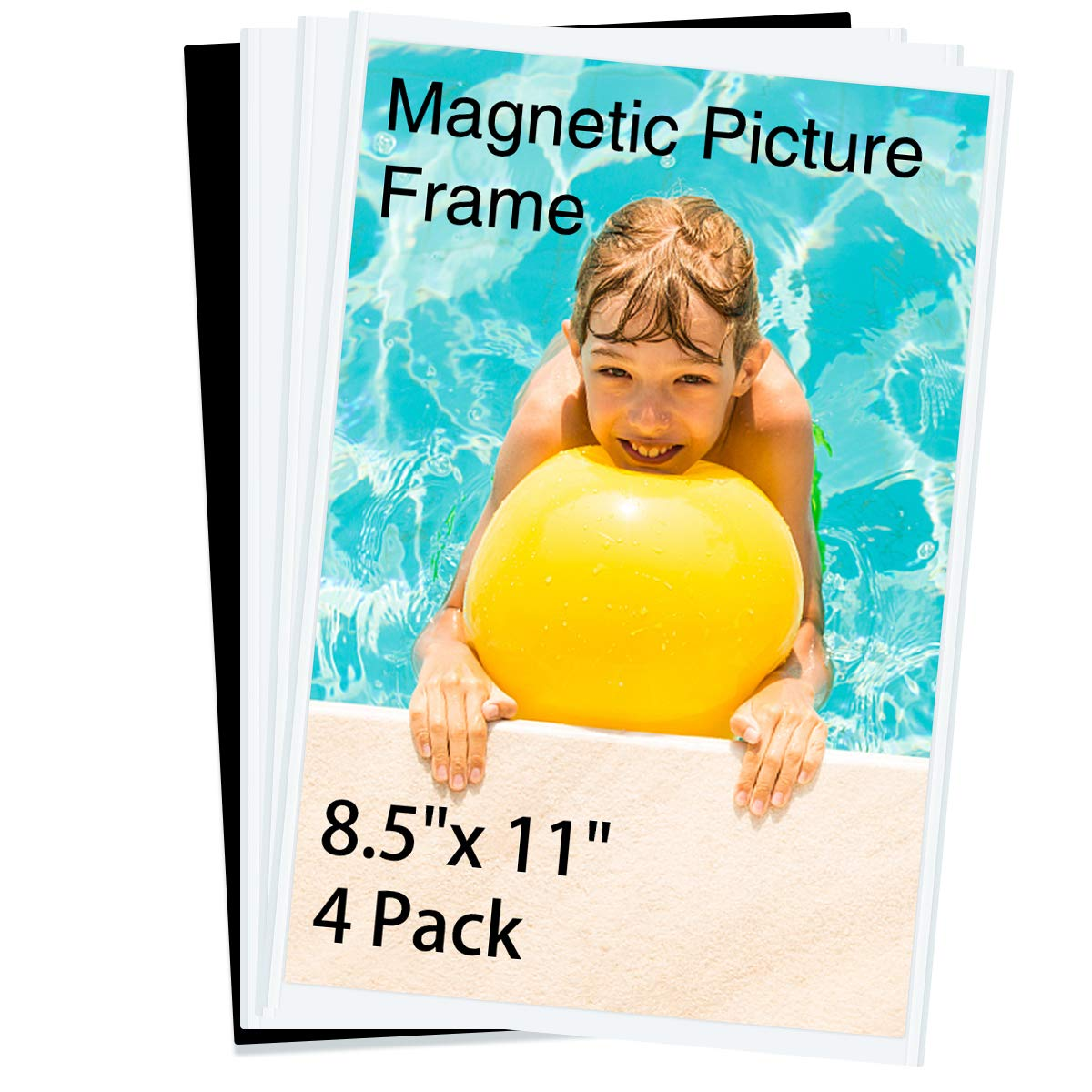 HIIMIEI Magnetic Photo Frames for Refrigerator 8.5x11, 4 Pack Fridge Magnets Picture Frame Photo Pocket,Perfect for Displaying Frames,Children Artworks and Schedules by HIIMIEI
