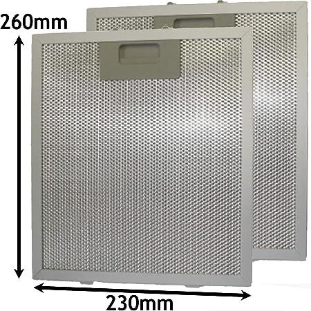 Spares2go Filtro de grasa de malla de metal para campana extractora de ventilación para horno ISLW5SS (260 x 230 mm, 2 unidades): Amazon.es: Hogar