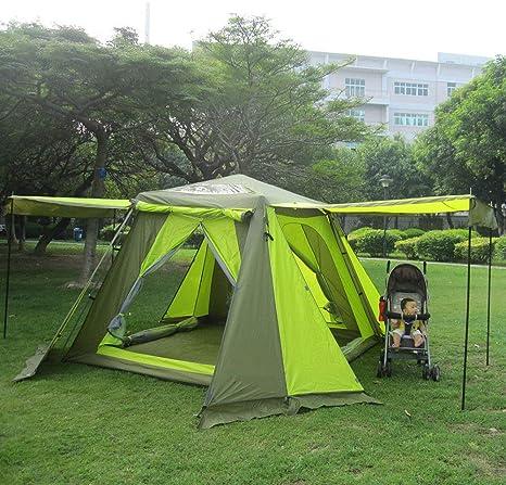 AOGUHN Tienda de campaña - Carpas automáticas 3-4 Personas Carpas de Dos Pisos Tiendas de campaña para Acampar al Aire Libre Tiendas de campaña Abiertas: Amazon.es: Deportes y aire libre