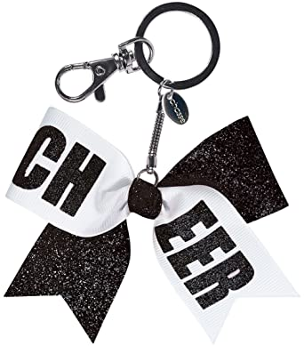 Chassé Girls  Mini Cheer Bow Keychain Glitter Black White at Amazon Women s  Clothing store  cd025d6d8