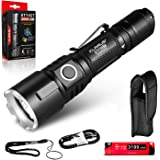 klarus XT11GT 2000 Lumens Compact Rechargeable Tactical Flashlight, Beam Reach 316m, 18650 Battery, Triple Tactical Switch, P