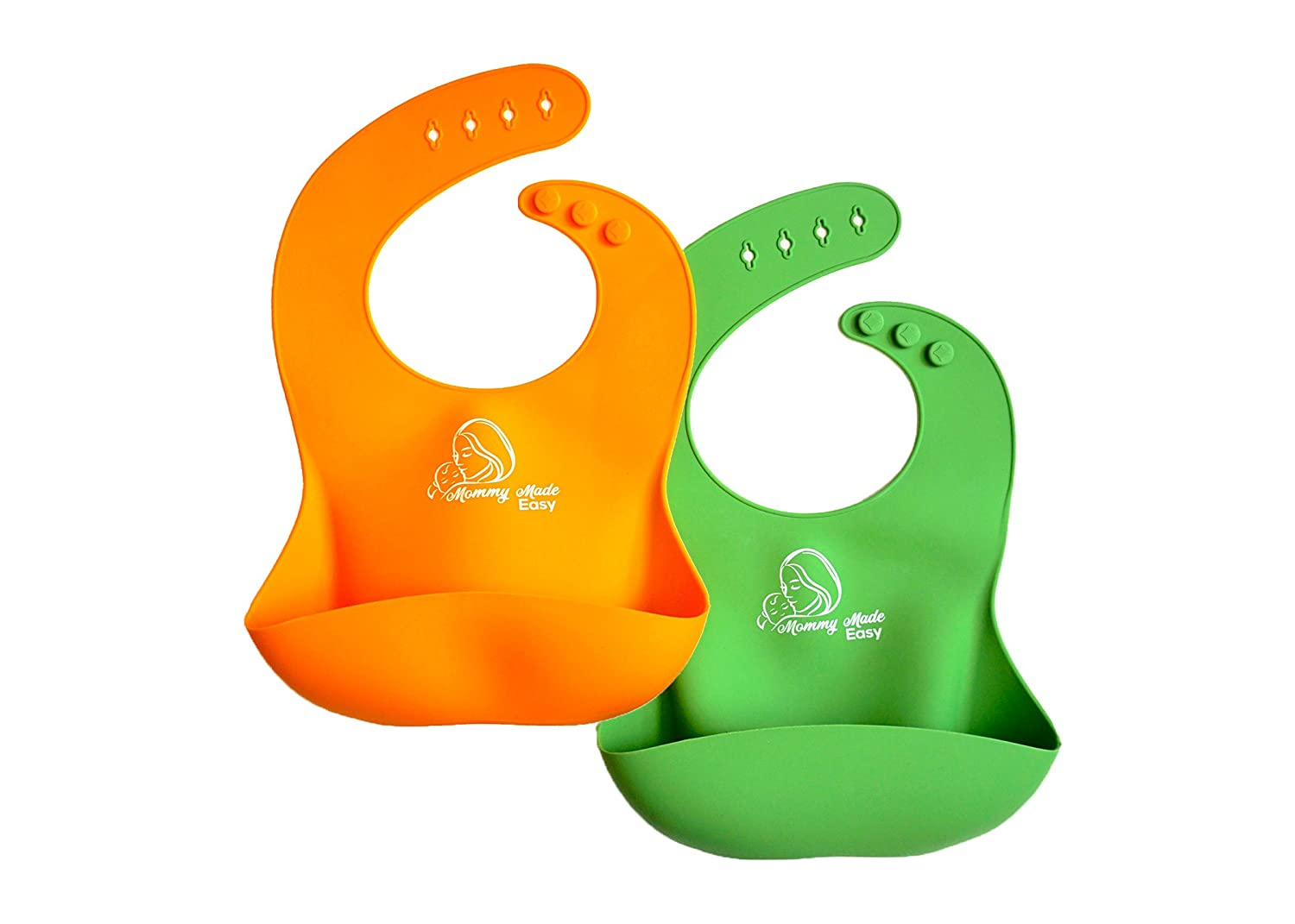 Waterproof Silicone Baby Bib Spend Less Time Cleaning Up After Your Kids No More Stains, Easy To Wash!