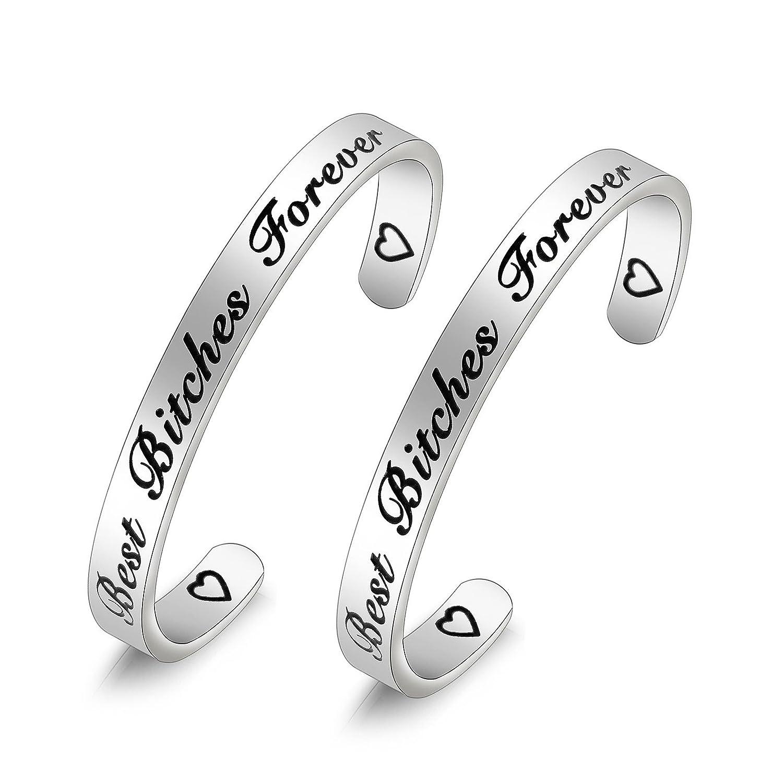 Best Bitches Forever Cuff Bracelet Gift for BFF KUIYAI KYCA-bestbitchesRG