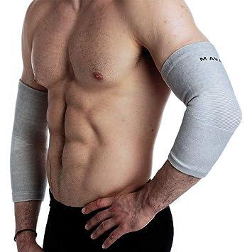 Mava Sports - Codera compresiva para recuperación, apoyo para entrenamiento, levantamiento de
