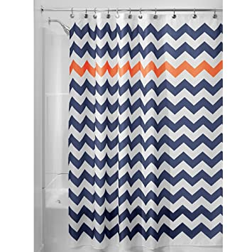 Amazon.com: InterDesign Chevron Soft Fabric Shower Curtain, 72
