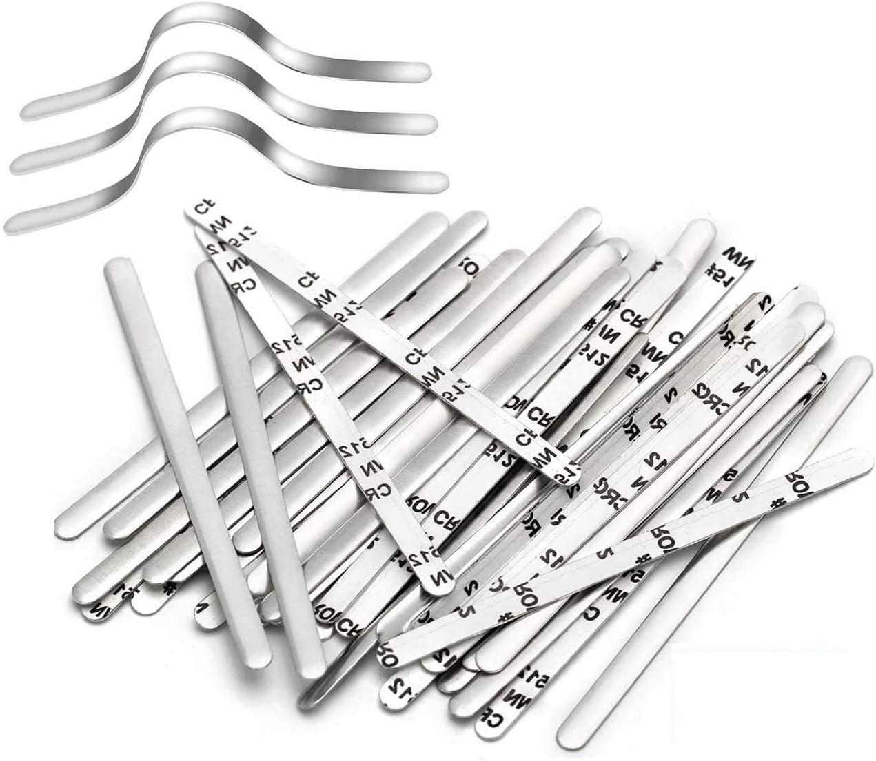 100-1000x Aluminum Metal PE Plastic Strip Nose Bridge Wire Clips Strip for DIY