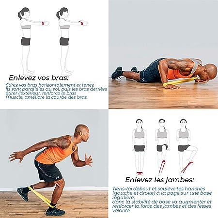 ISE 6PCS Bandas Elasticas,Fitness Cinta de Resistencia con 6 Niveles ...