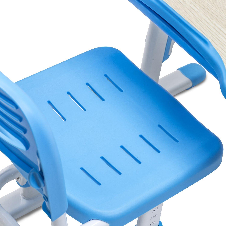 Mount-It! Children's Desk and Chair Set, Kids School Workstation, Height Adjustable, Blue by Mount-It! (Image #4)