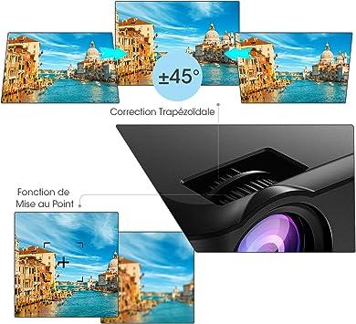 Mpow Mini Proyector, 3200 Lúmenes Corrección Trapezoidal Vertical ...