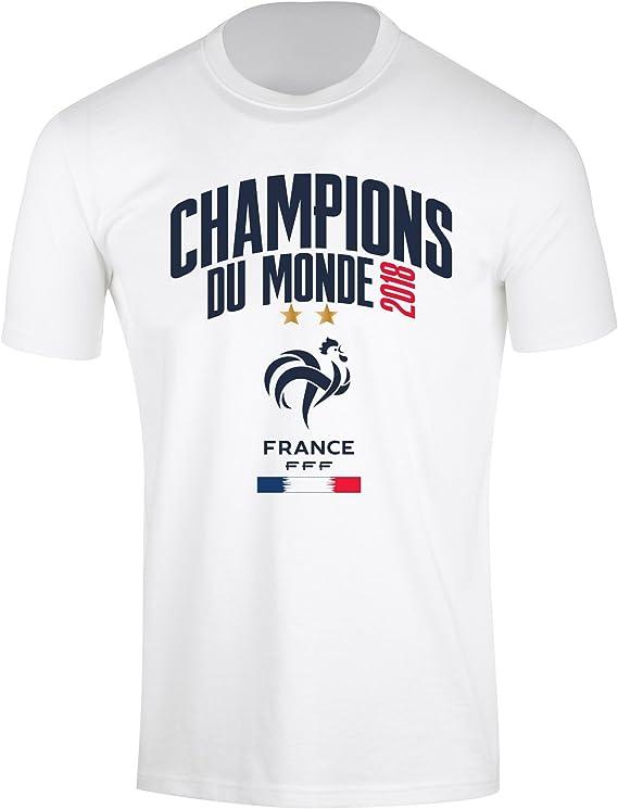 Camiseta del equipo de fútbol FRANCE de la FFF, colección oficial del Campeón del Mundo 2018, talla L: Amazon.es: Ropa y accesorios