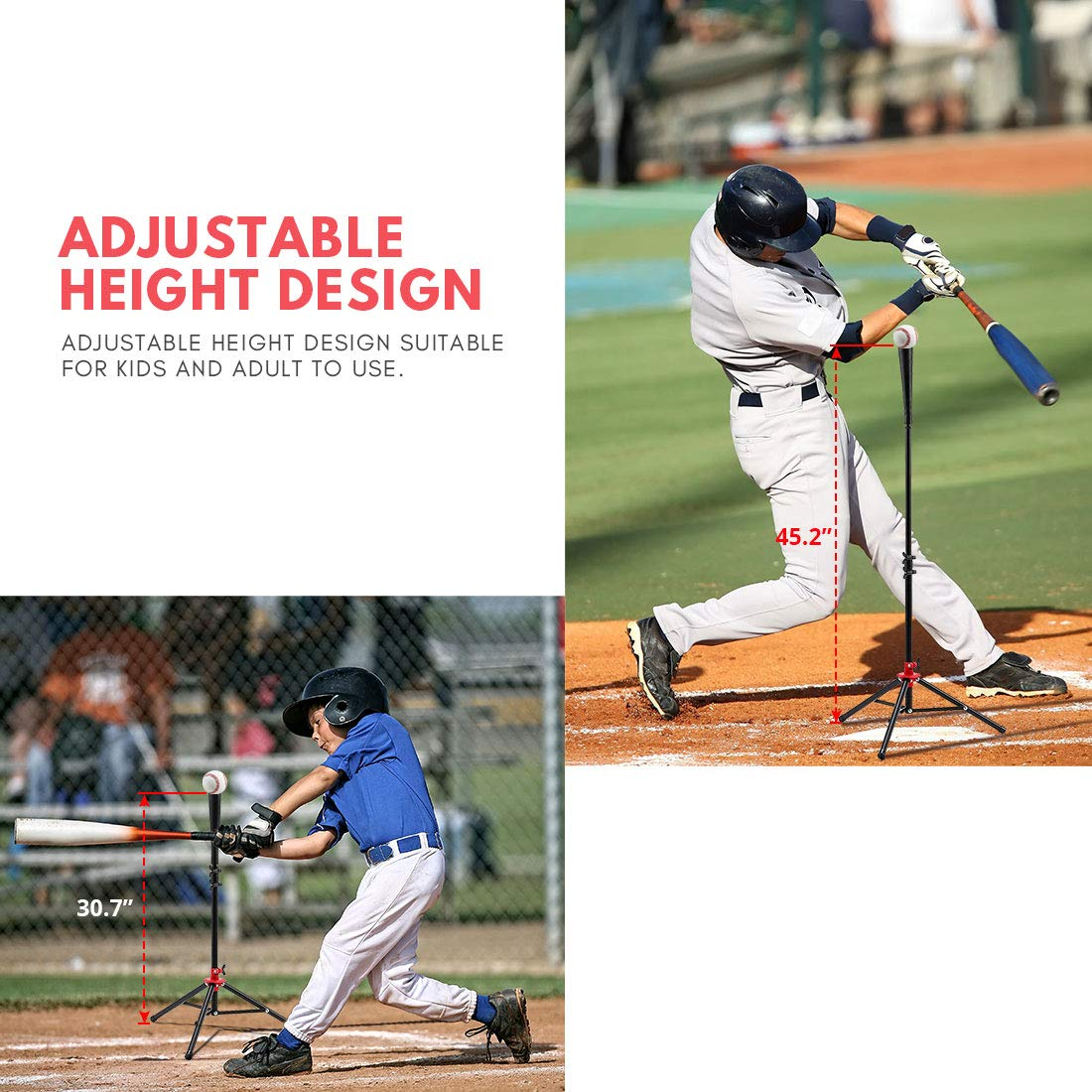 Zupapa 12 Pack Baseballs /& Tee /& 7 x 7 Baseball Softball Hitting Pitching Net Practice Set Bonus Upgraded Vivid Strike Zone Practice Hitting Pitching Batting and Catching Great for All Ages