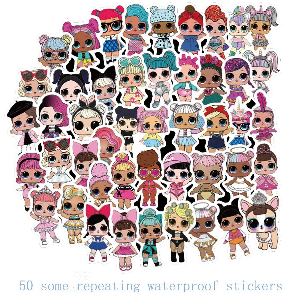 Stickers Calcos 50 un. Surtidos Origen U.S.A. (7RFFK1PZ)