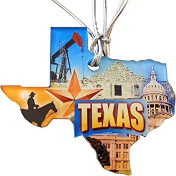 Amazon Com Westmon Works Texas Christmas Ornament Acrylic State Shaped Decoration Made In The Usa Furniture Decor