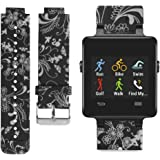 Watchband for Garmin Vivoactive - Comfortable and Cute - Garmin Vivoactive Silicone Replacement Band with Different Colors and Patterns - Personalize Garmin Vivoactive Smartwatch