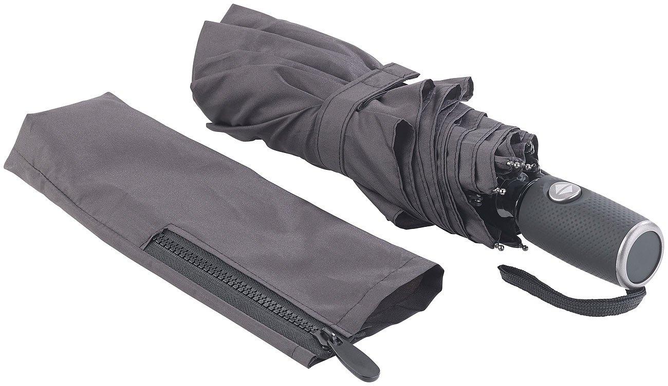 /Ø 95cm Carlo Milano Regenschirm: Taschenschirm Sturmschirm Teflon/®-Beschichtung 210 T sicher bis 140 km//h