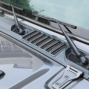 RT-TCZ for Jeep JL Hood Vents Cover Trim Decor ABS Decorative Cover for Jeep Wrangler JL Accessories 2018 2019 2020 JL & JT Gladiator Carbon Fiber