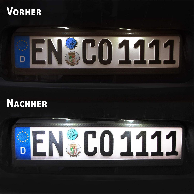 Carparts-Online 28670 LED Kennzeichenbeleuchtung wei/ß 6000K