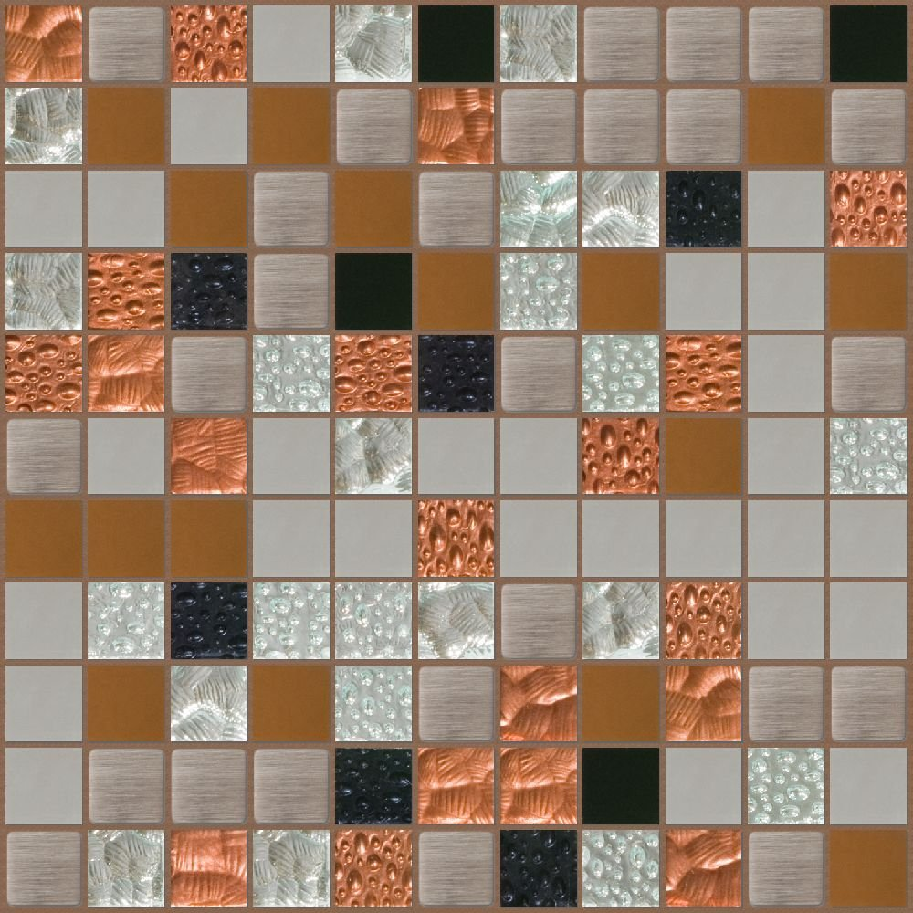 Susan Jablon Mosaics - Copper and Steel with Mirror