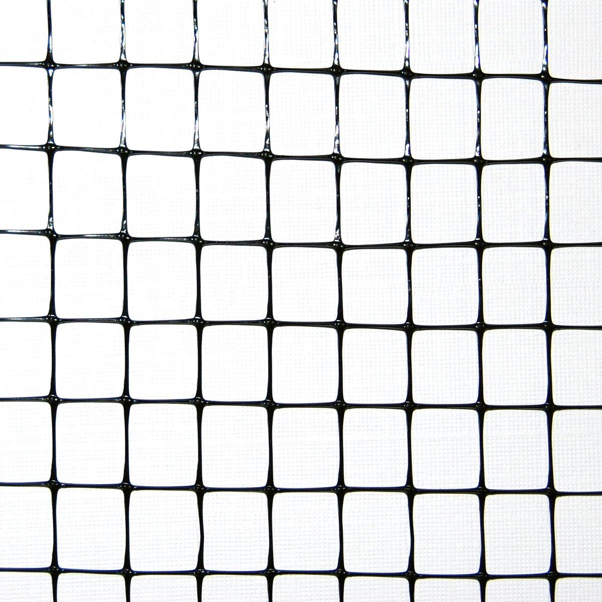 "Industrial Netting OV1581-168x100 Heavy Duty Polypropylene Bird Garden Net, 1/2"" Mesh, 100' Length x 14' Width, Black"