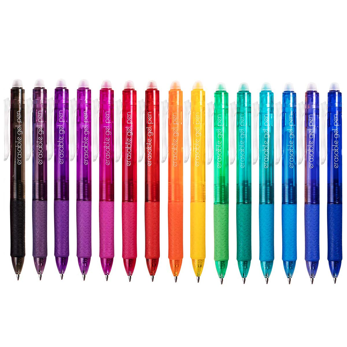 Vanstek 15 Colors Retractable Erasable Gel Pens Clicker, Fine Point(0.7), Make Mistakes Disappear, Premium Comfort Grip for Drawing Writing Planner and Crossword Puzzles by Vanstek